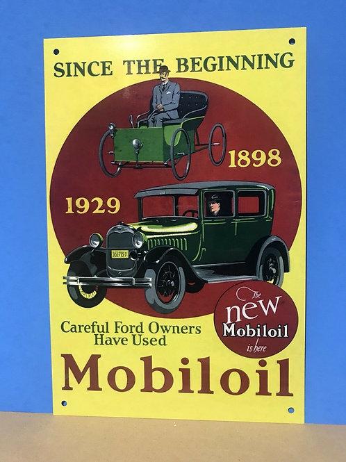 Mobiloil Since The Beginning Sign