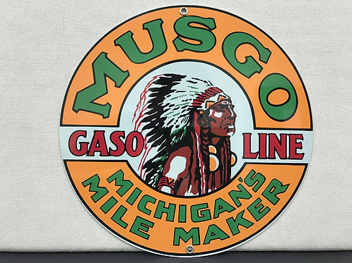 MUSGO GASOLINE REPRODUCTION SIGN