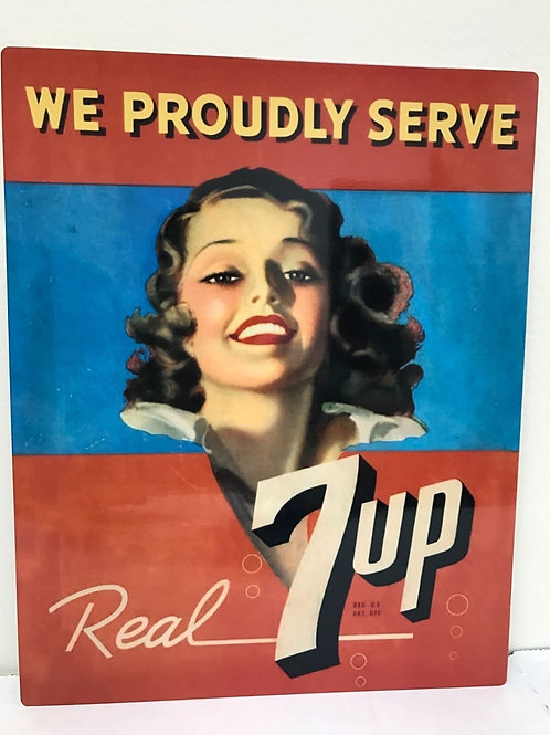 REAL 7UP  REPRODUCTION SIGN