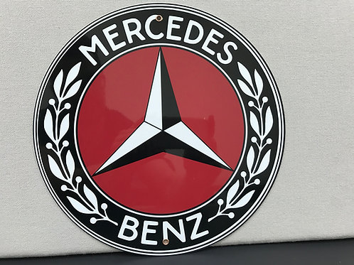 MERCEDES BENZ RED VINTAGE REPRODUCTION SIGN