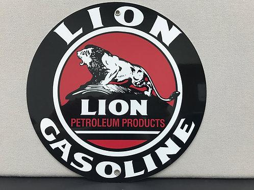 LION GASOLINE REPRODUCTION SIGN