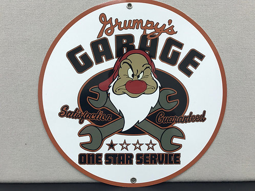GRUMPYS  GARAGE SERVICE REPRODUCTION SIGN