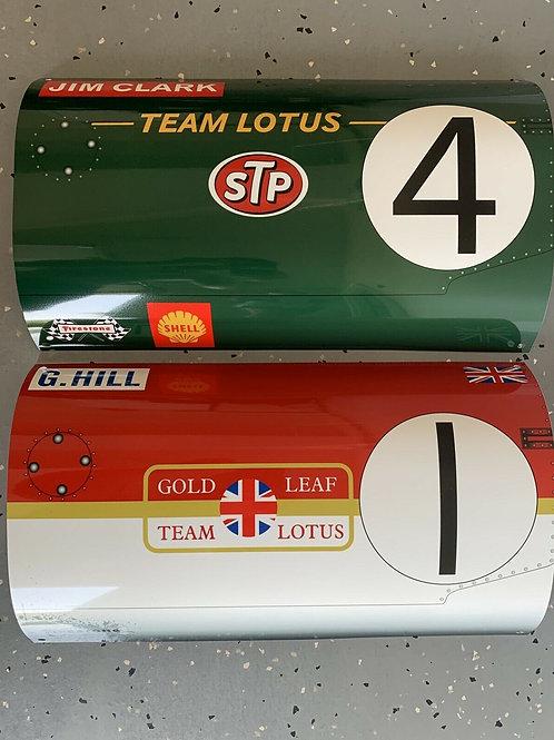 Graham Hill Jim Clark F1 Le Mans Combo