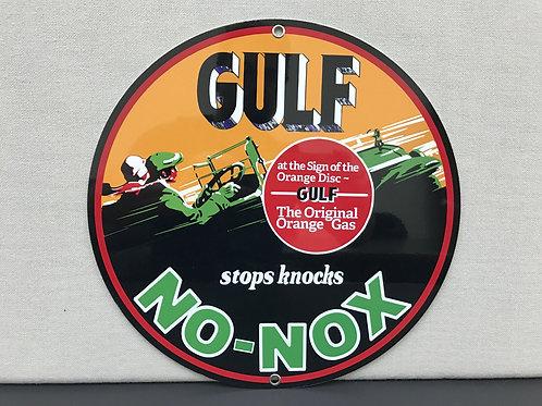 GULF NO NOX ORANGE GAS REPRODUCTION SIGN