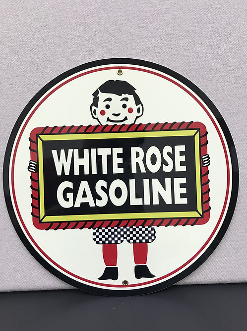 WHITE ROSE GASOLINE REPRODUCTION SIGN