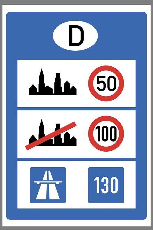 Autobahn City Road Sign Germany