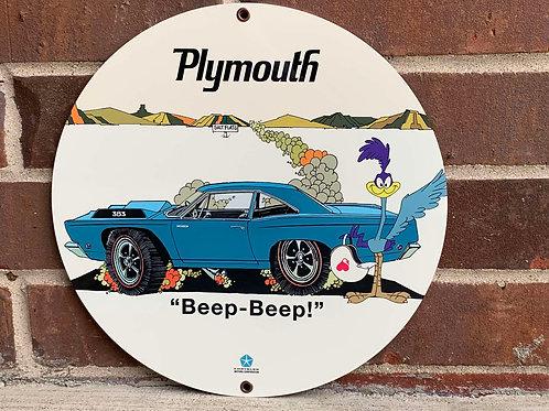 Plymouth Beep Beep Sign