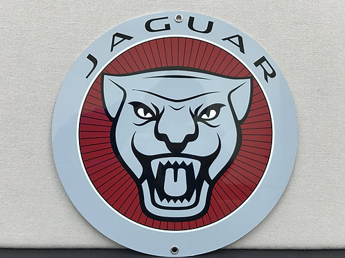 JAGUAR RED REPRODUCTION SIGN