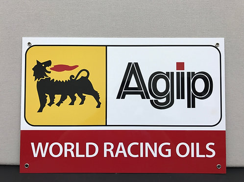 AGIP WORLD RACING OIL REPRODUCTION SIGN