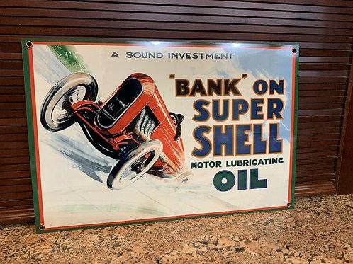 Super Shell Oil Vintage Sign