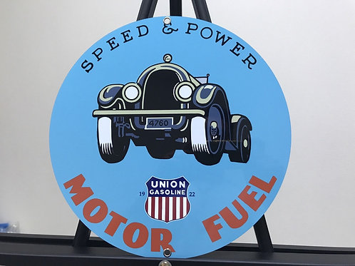 UNION MOTOR FUEL SPEED&POWER REPRODUCTION SIGN