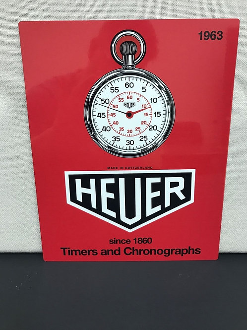 TAG HEUER VINTAGE  REPRODUCTION SIGN