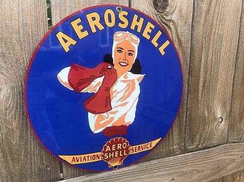 Aeroshell Rare Pinup Vintage Sign