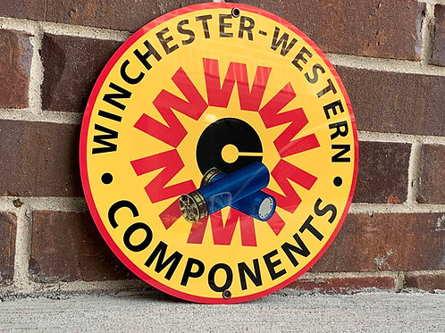 Winchester Western Components Sign