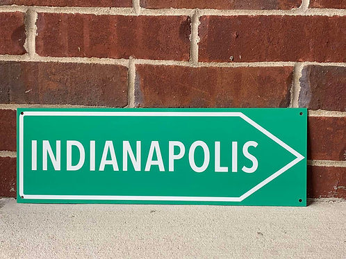 Indianapolis Road Sign