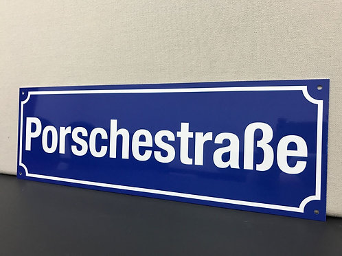STRASSE REPRODUCTION STREET SIGN