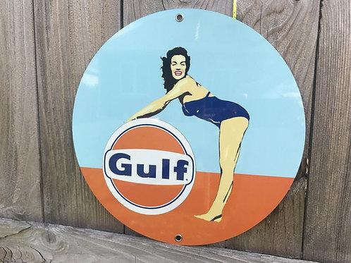 Gulf Racing Vintage Sign