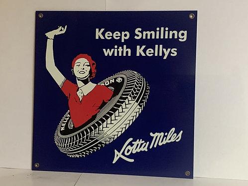 Kelly`s Tires Vintage Sign