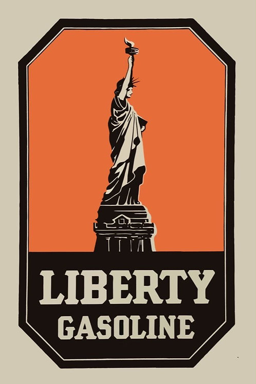 LIBERTY GASOLINE REPRODUCTION SIGN