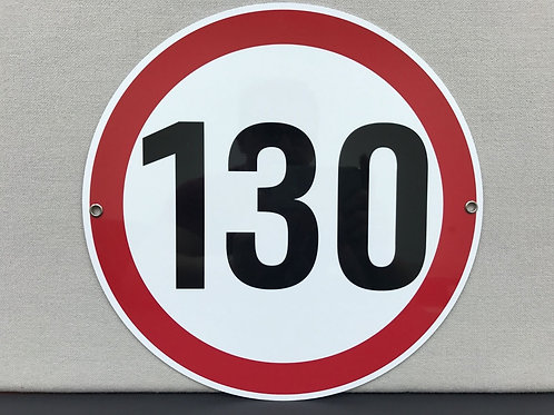 AUTOBAHN SPEED LIMIT 130/KMH SIGN
