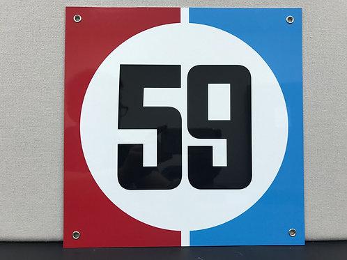 59 BRUMOS RACING REPRODUCTION SIGN