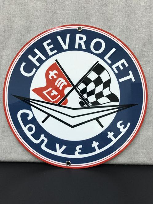 CHEVROLET CORVETTE VINTAGR REPRODUCTION SIGN