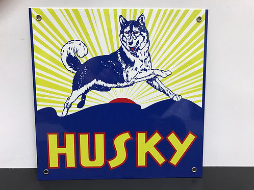 HUSKY GASOLINE REPRODUCTION SIGN