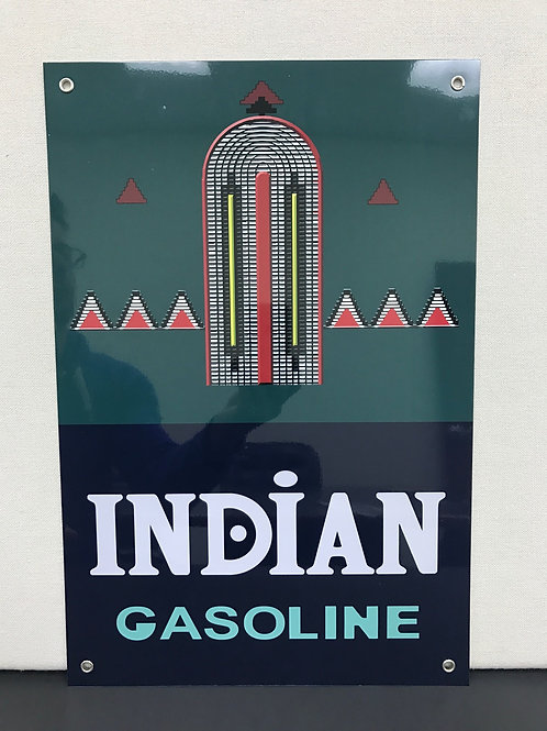 INDIAN GASOLINE REPRODUCTION SIGN
