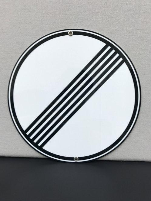NO SPEED LIMIT AUTOBAHN SIGN