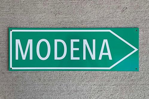 Modena Race Circuit Sign