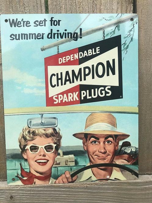 Champion Spark Plugs Vintage Sign