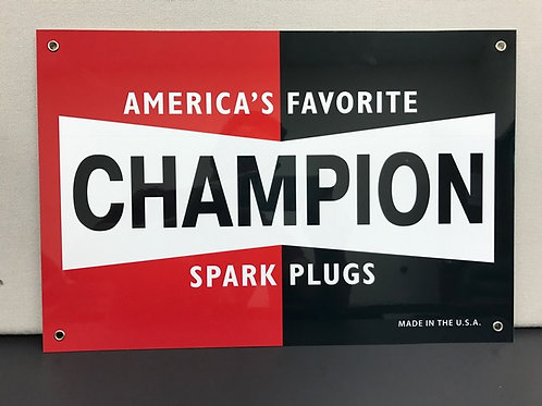 CHAMPION SPARK PLUGS REPRODUCTION SIGN