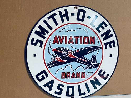 Smith-O-Lene Aviation Gasoline Vintage Sign