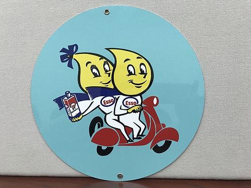 Esso Scooter Vintage Sign