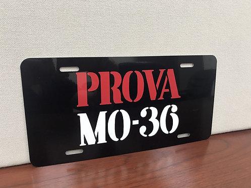Prova MO 36 Italian License Plate