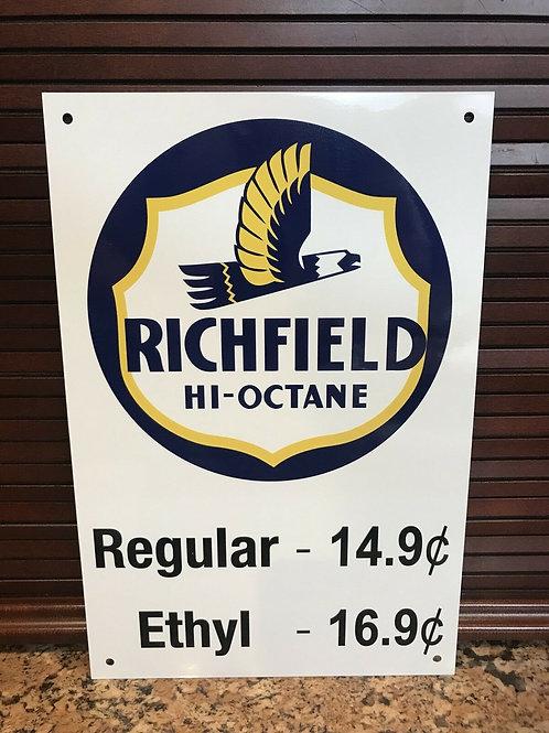 Richfield Hi-Octane Gasoline Sign