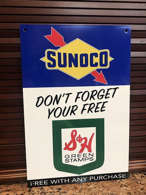 Sunoco Gasoline S&H Green Stamps