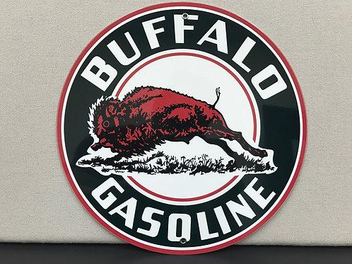 BUFFALO GASOLINE REPRODUCTION SIGN