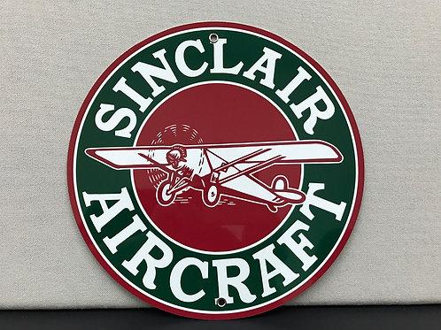 SINCLAIR AIRCRAFT REPRODUCTION SIGN