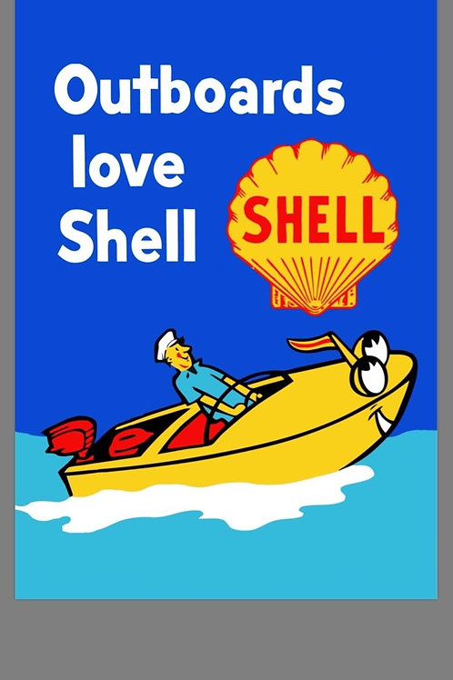 SHELL MARINE REPRODUCTION SIGN