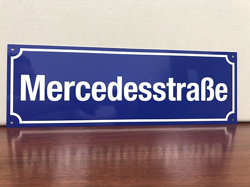 Mercedesstrasse Street Sign