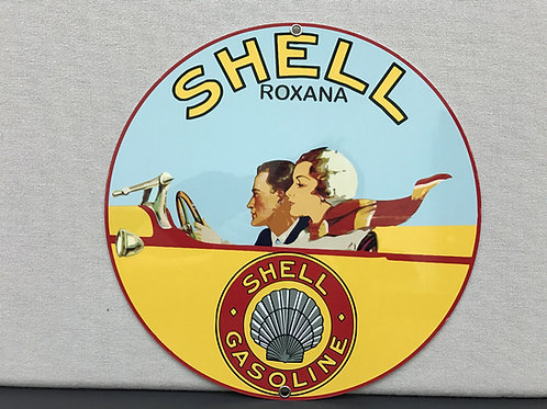 SHELL ROXANA GASOLINE REPRODUCTION SIGN