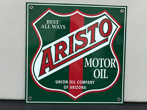 ARISTO MOTOR OIL REPRODUCTION SIGN