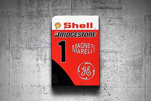 Michael Schumacher Ferrari F2001 Tail