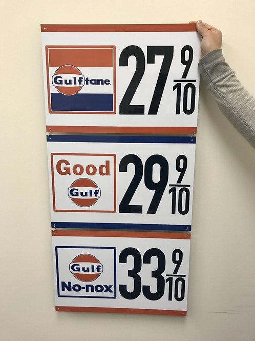 GULF OIL - 3 PIECE SIGN