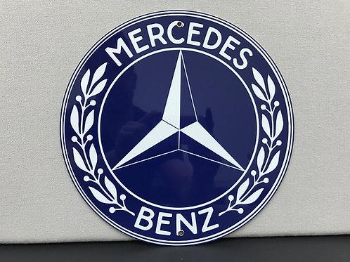 MERCEDES BENZ BLUE VINTAGE REPRODUCTION SIGN