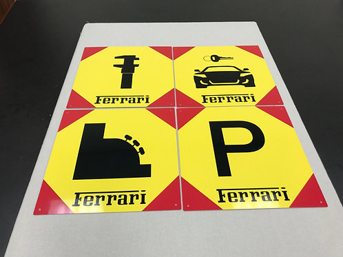 FERRARI DEALER SERVICE SALES REPRODUCTION SIGN