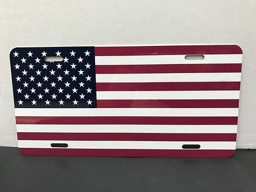 USA FLAG LICENSE PLATE