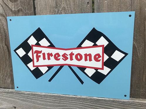 Firestone Racing Tires Vintage Sign
