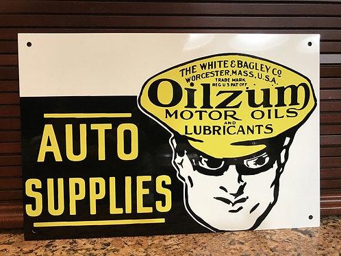 Oilzum Auto Supplies Vintage Sign